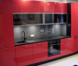 Кухня Феникс Красный Глянец