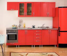Кухня Лантана красная