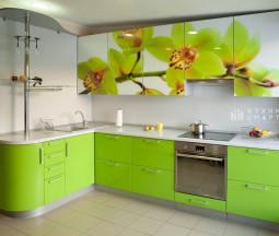 Кухня Орхидея фотопечать