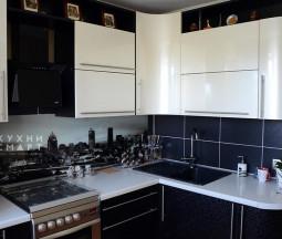 Кухня МДФ черно-белая