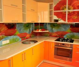 Кухня Оранжевый букет