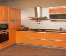 Кухня цвета Оранж
