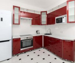 Кухня цвета Красный глянец