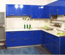 Кухня цвета Василек